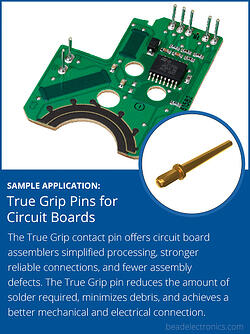 sample-application-  True Grip Pins for Circuit Boards CTA NEW SIZE copy