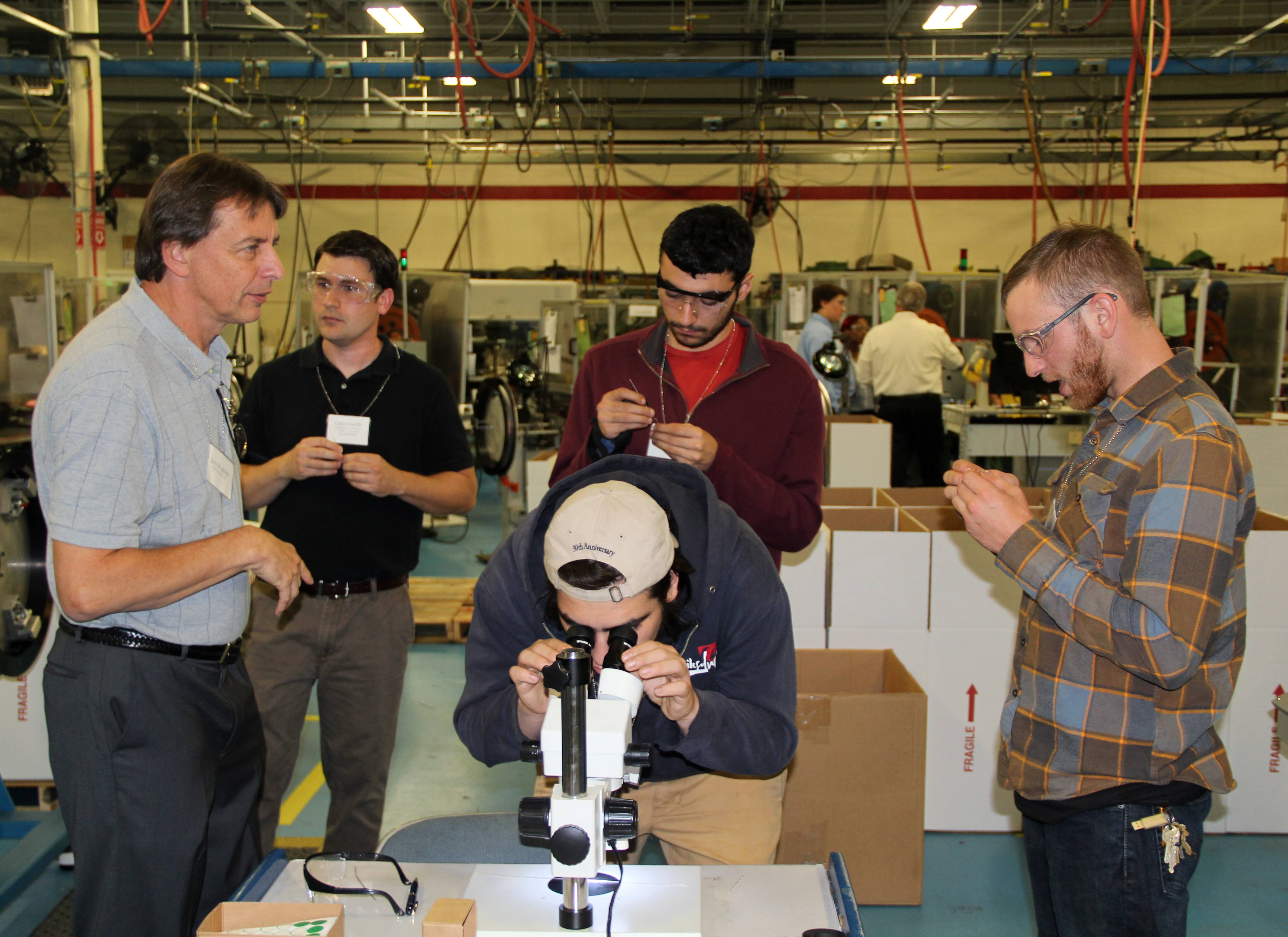 Electronic Contact Pin Manufacturer Draws Interest on Manufacturing Day